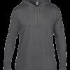 Anvil adult fashion basic long sleeve hooded tee - Heather Dark Grey