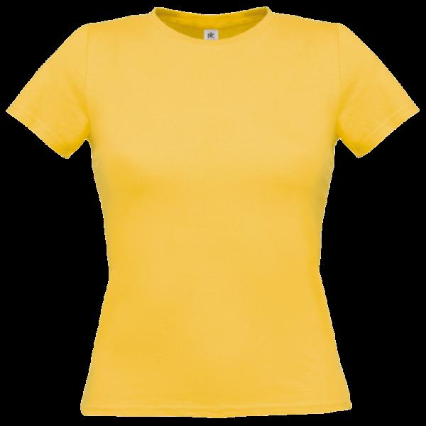 B&C Women Short sleeved t-shirt - Used Yellow