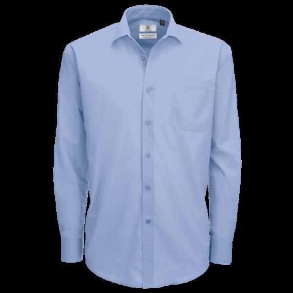B&C Men's Smart Long Sleeve Shirt - Business Blue