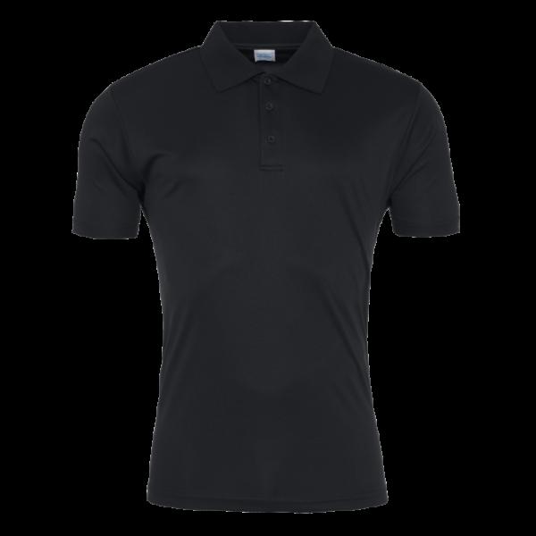 AWDis Mens Cool Smooth Polo Shirt - Jet Black