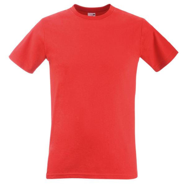 Fitted Valueweight Fruit of the Loom Mens T-Shirt - Red
