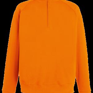 Fruit of the Loom Lightweight Zip Neck Sweatshirt - Orange